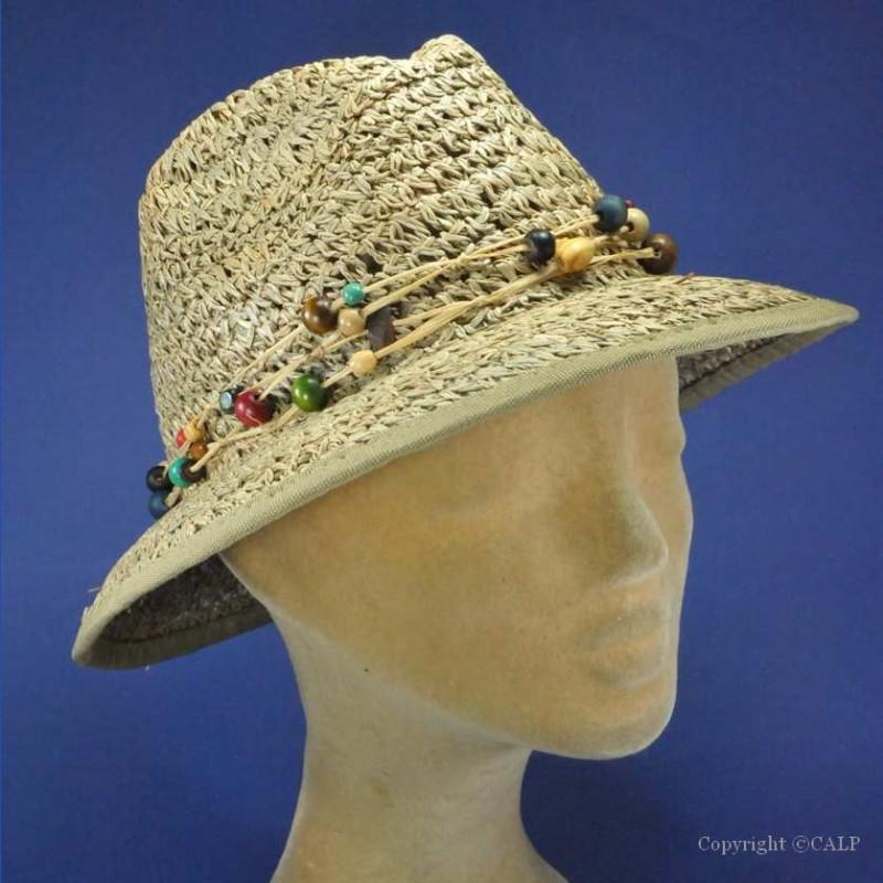 Chapeau de plage paille femmes