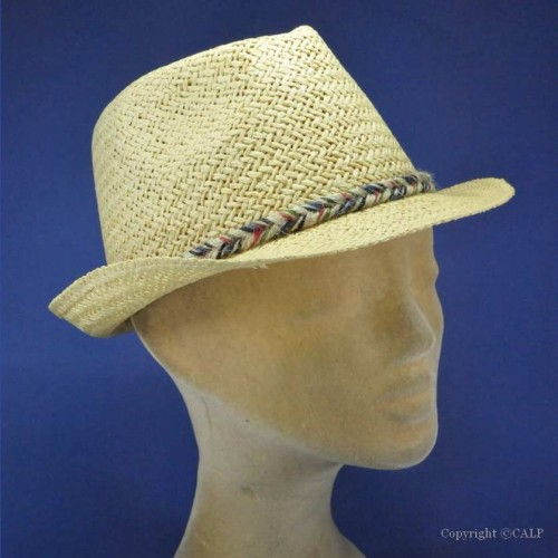 chapeau paille trilby femme