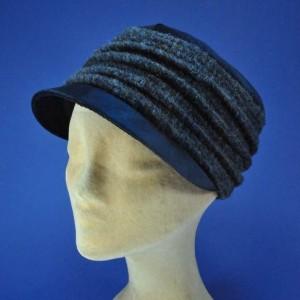 casquette femme laine et velours