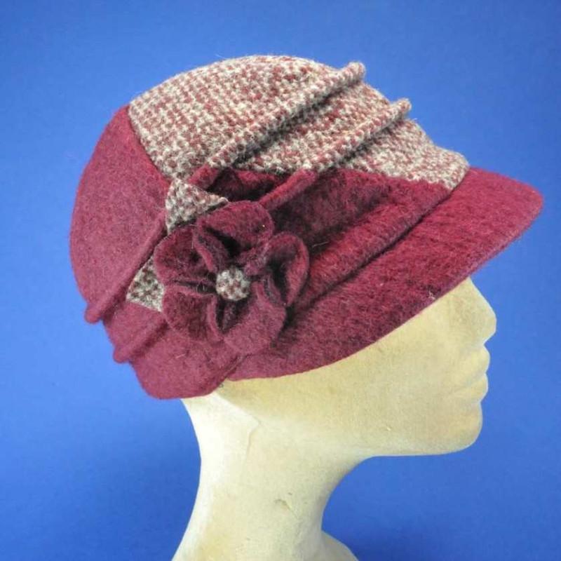 casquette patch laine femme