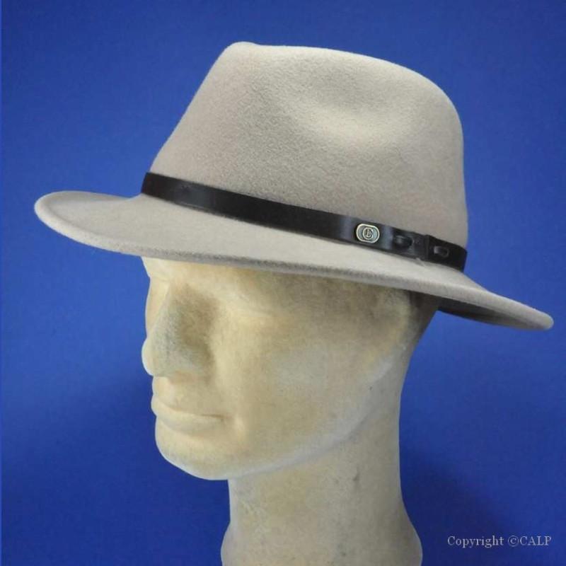 Chapeau feutre laine homme beige