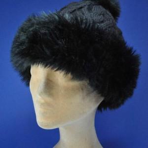 Bonnet tricot pompon femmes