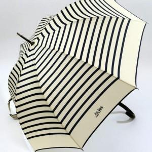 parapluie canne imprimé marin ivoire et noir jean paul gaultier
