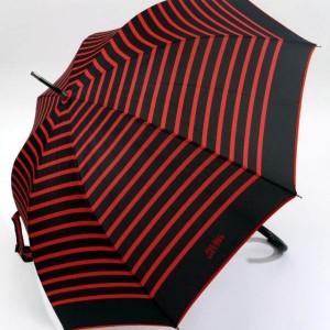 parapluie canne imprimé marin noir et rouge jean paul gaultier