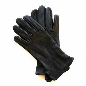 Gants noir en cuir de Cerf pour les cavaliers
