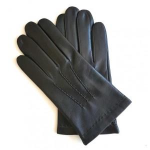Gants noir en cuir d'agneau pour homme