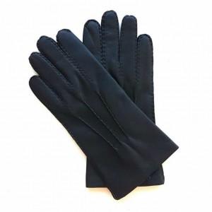 Gants noir en cuir d'agneau doublés cachemire pour homme
