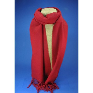 Echarpe rouge homme cachemire