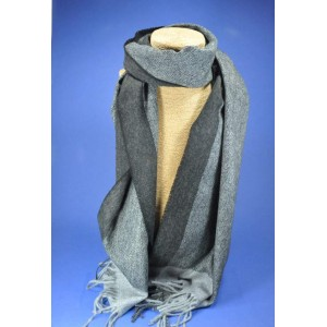 Echarpe grise homme laine