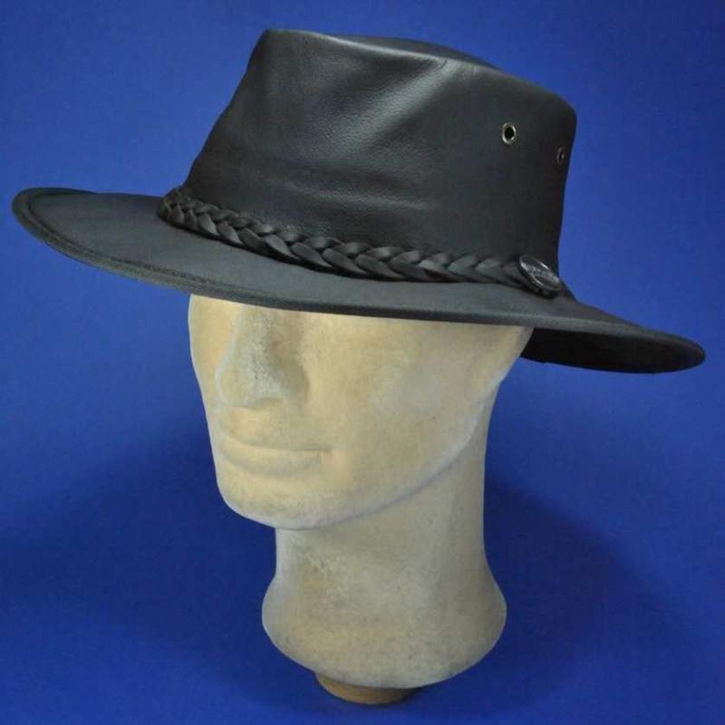 Barmah chapeau homme en cuir de kangourou