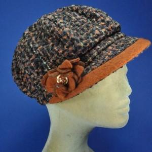 Casquette gavroche d'hiver tricot