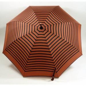 parapluie canne imprimé marin marron-marine jean paul gaultier