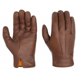 STETSON Gants marron en cuir  pour homme