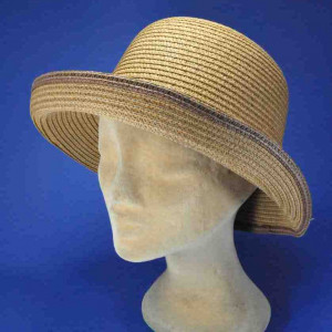 chapeau paille naturelle bord relevé