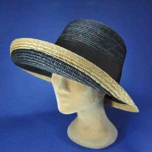 chapeau paille naturelle tresse fine