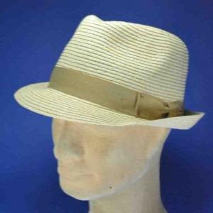Chapeau trilby homme fibre naturelle