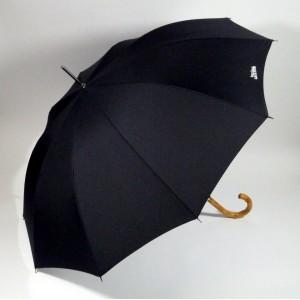 Parapluie noir poignée rottin Jean-Paul GAULTIER