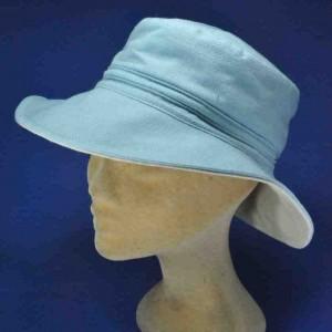 Chapeau de plage coton grand bord
