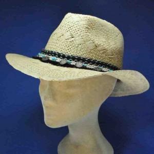 chapeau seventies en paille femme