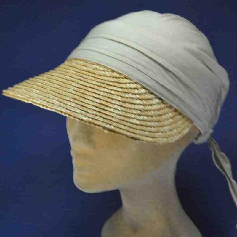 Casquette bandana paille coton