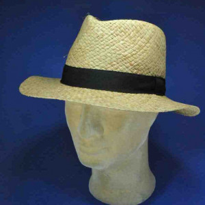 chapeau fedora raphia tressé homme