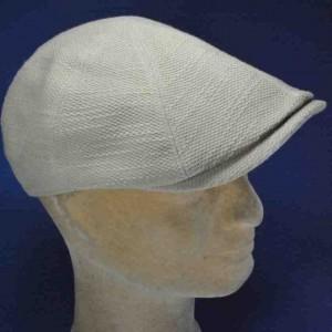 Casquette anglaise lin coton homme