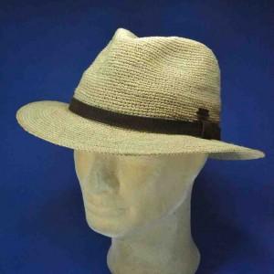 chapeau crochet raphia homme