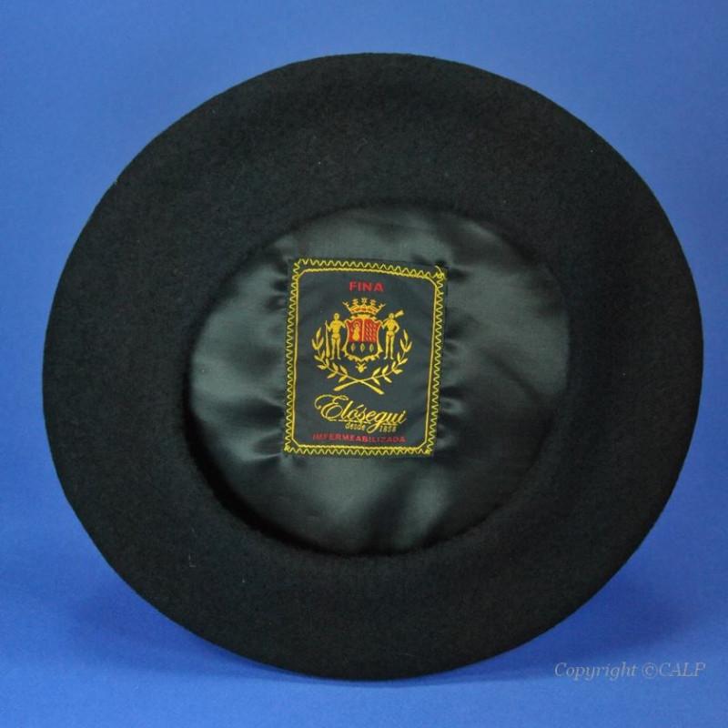 Berets Basques Enfant noir Elosegui taille (49 à 53cm) fabriqués ... f7a7d2015b8