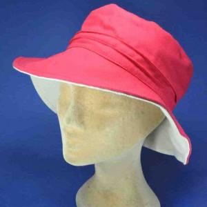 Chapeau en coton grand bord reversible