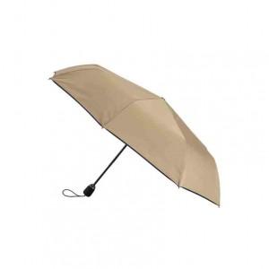 Parapluie femme pliant beige finition marine