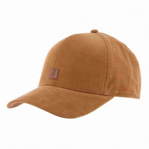 Casquette  velours tabac