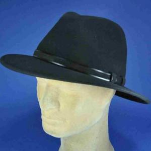 chapeau flechet feutre de laine noir