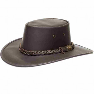 Barmah-chapeau australien cuir marron outback