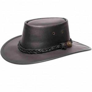Barmah-chapeau australien cuir noir outback