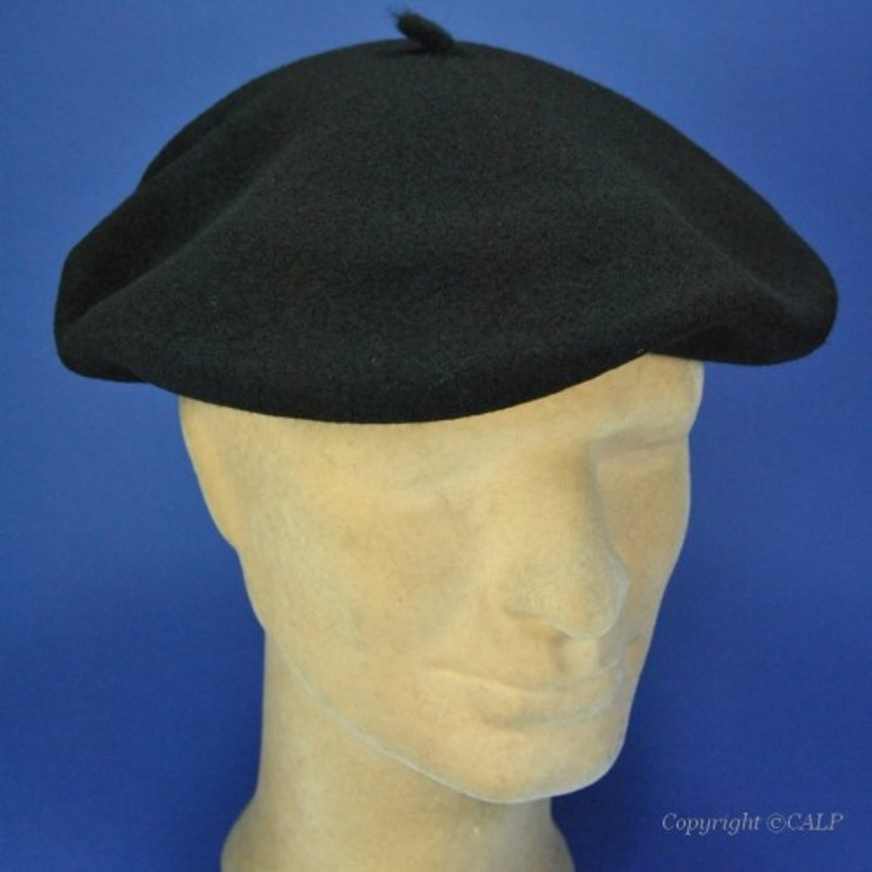béret noir en laine