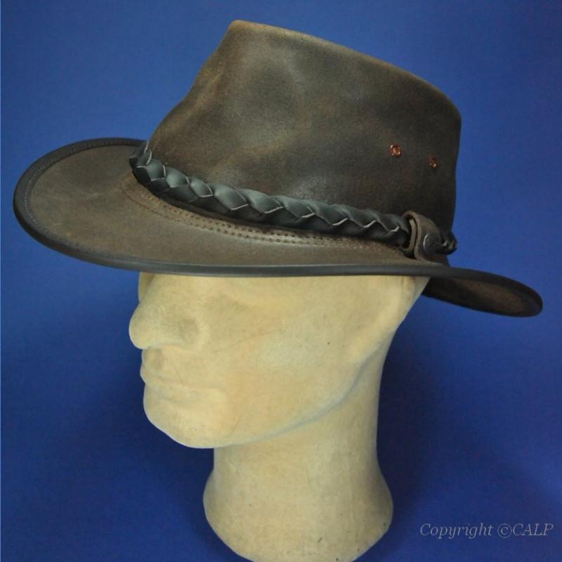 vraie affaire qualité incroyable magasin d'usine Chapeau australien cuir B C hats