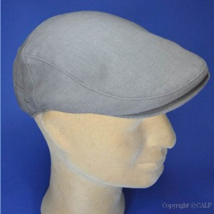 casquette homme lin taupe