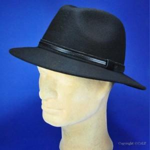 Chapeau noir homme