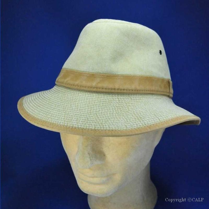 chapeau été safari beige écaille