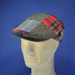 casquette Harris Tweed patch