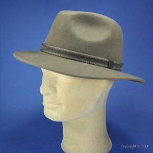 chapeau feutre laine terre de sienne