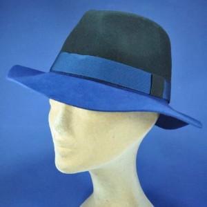 Chapeau feutre bicolore femme