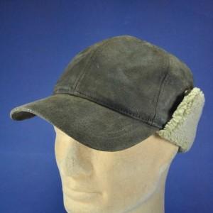 casquette cuir protége oreilles apparent