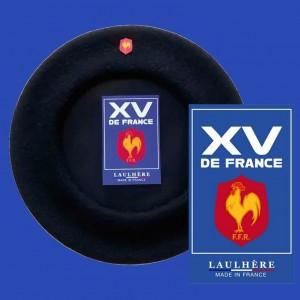 Béret Officiel XV de France noir - Made In France