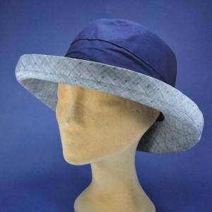 Chapeau grand bord anti UV tissu