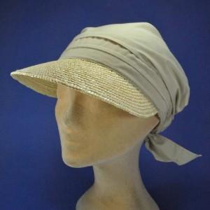 Casquette bandana femme haute protection solaire