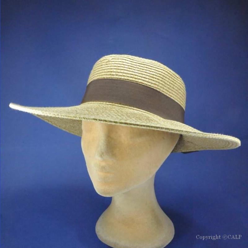 chapeau roulable paille femme