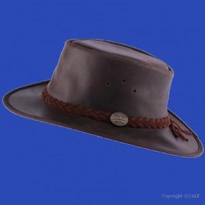 Barmah chapeau australien cuir brady oil